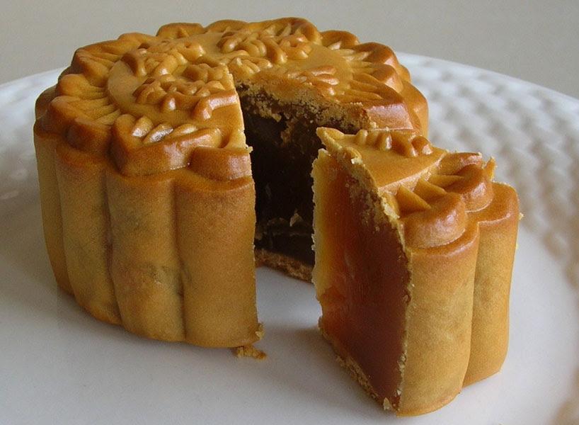 Pastel de la luna de judía dulce/豆沙月饼 / dousha yuebing