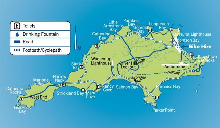 rottnest island map max
