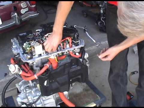 Как разобрать  двигатель Nissan leaf (1 поколение) Nissan Leaf Motor Unit Disassembly (1 gen)