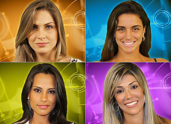 Em sentido horário: Renata Dávila, Laisa Portela, Kelly Medeiros e Fernanda Girão