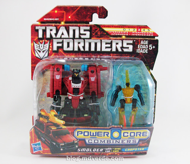 Transformers Smolder con Chopster Power Core Combiners - caja