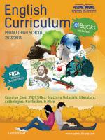 English Curriculum 2013-2014