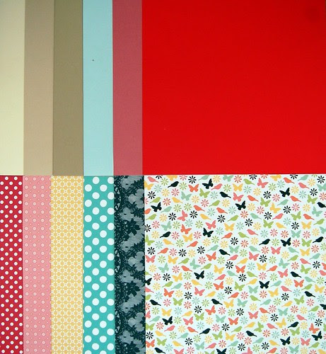 Patterned Papers & Cardstock From Stash