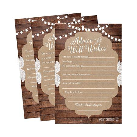 50 4x6 Rustic Wedding Advice & Well Wishes For The Bride