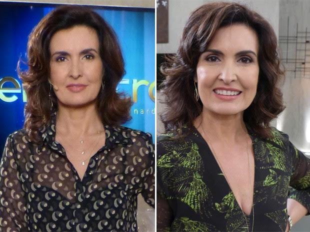 Fátima antes e depois (Foto: Encontro com Fátima Bernardes/ TV Globo)
