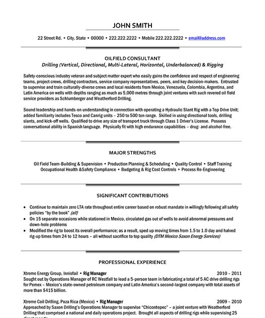 example resume  example resume for completions consultant