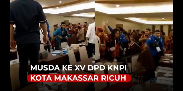 Agenda LPJ, Munas DPD KNPI Makassar di Hotel Grand Asia Ricuh