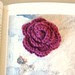 crochet rose brooch