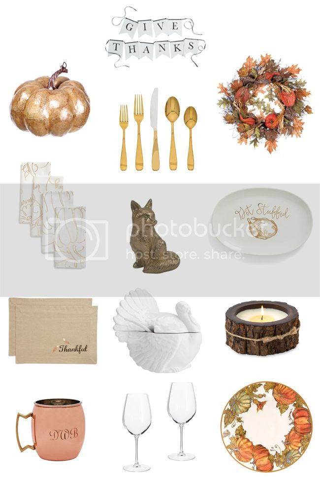 Thanksgiving Table Settings and table decor ideas, stylish Thanksgiving 2016 ideas