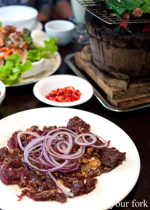 Marinated deer at Hai Au Lang Nuong Canley Vale