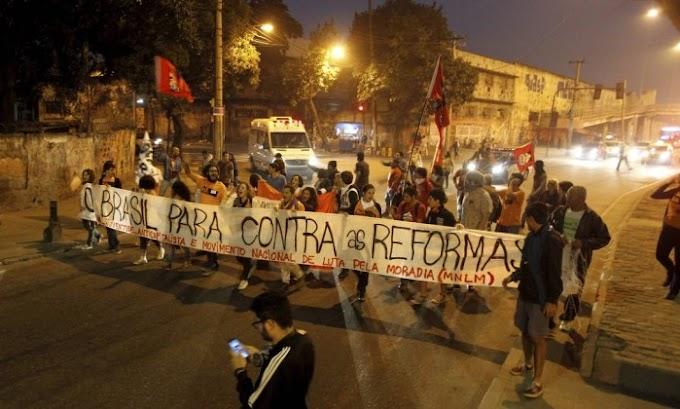 Rio tem mais de 25 km de engarrafamento em dia de protesto