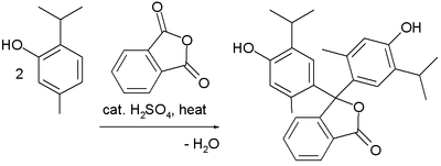 Thymolphthalein Synthesis