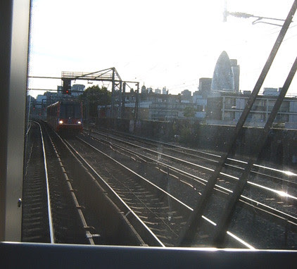 View from DLR leaving Shadwell