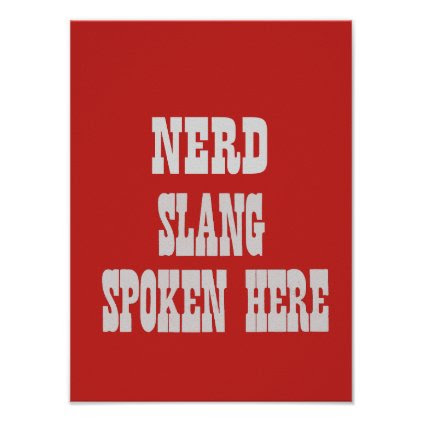 Nerd slang poster