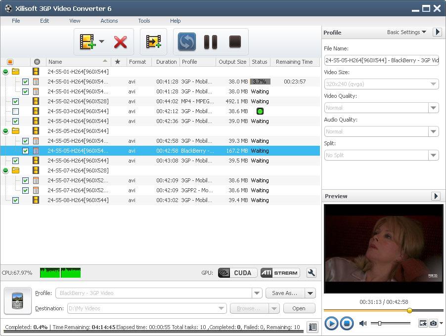 برنامج محول الفيديو الى 3gp Xilisoft 3GP Video Converter