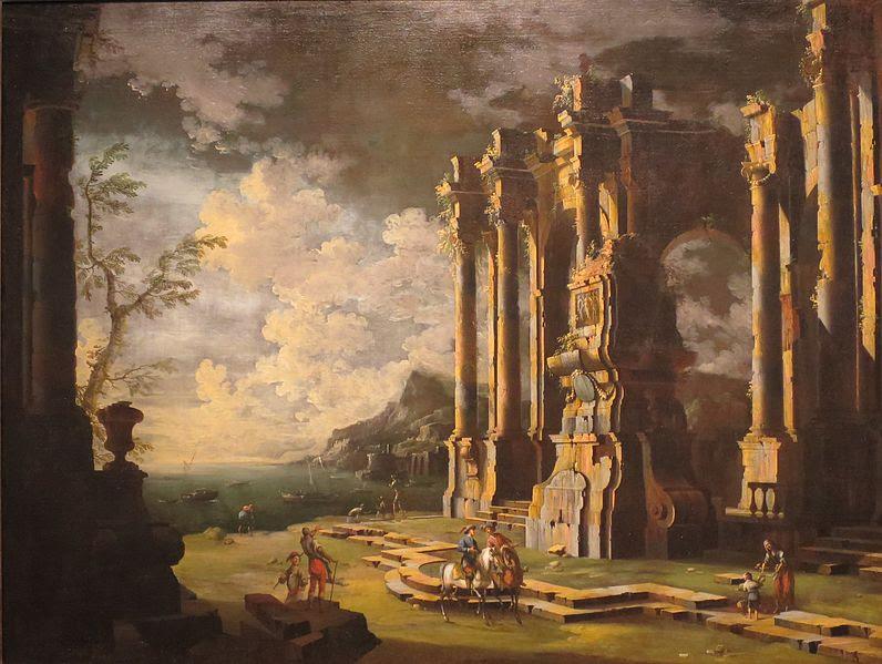 File:Leonardo Coccorante - 'Harbor Scene with Roman Ruins'.jpg