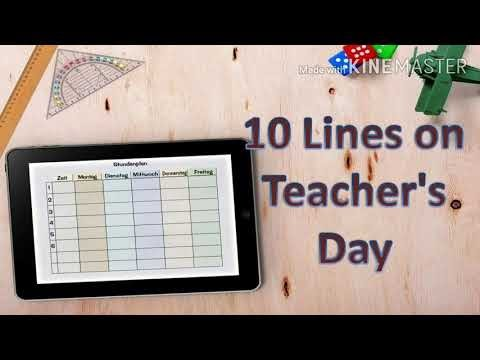 10 Lines on Teachers Day in English/Essay on Teachers Day/Teachers Day Speech