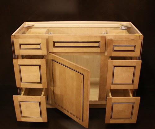 """Kraftmaid Maple Bathroom Vanity Sink Base Cabinet 48""""w ..."""