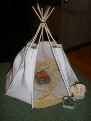 Tipi project - the fire and beds