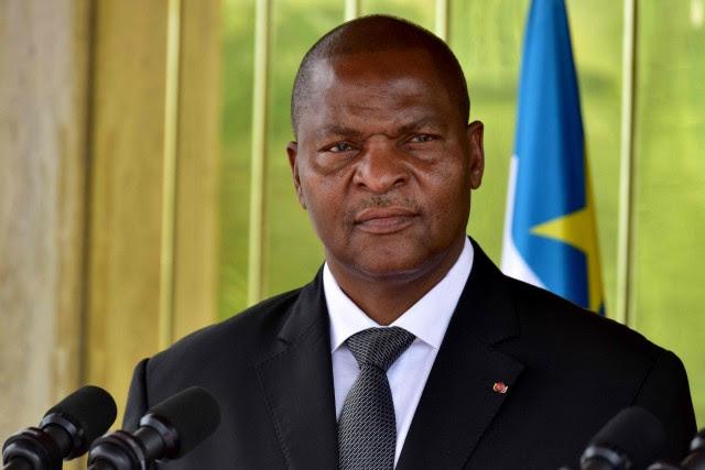 Le président centrafricain Faustin-Archange Touadéra... (Photo Issouf Sanogo, archives Agence France-Presse)