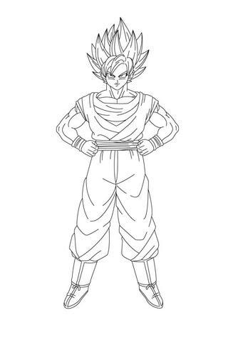 Disegno Di Goku Da Colorare Disegni Da Colorare E Stampare Gratis