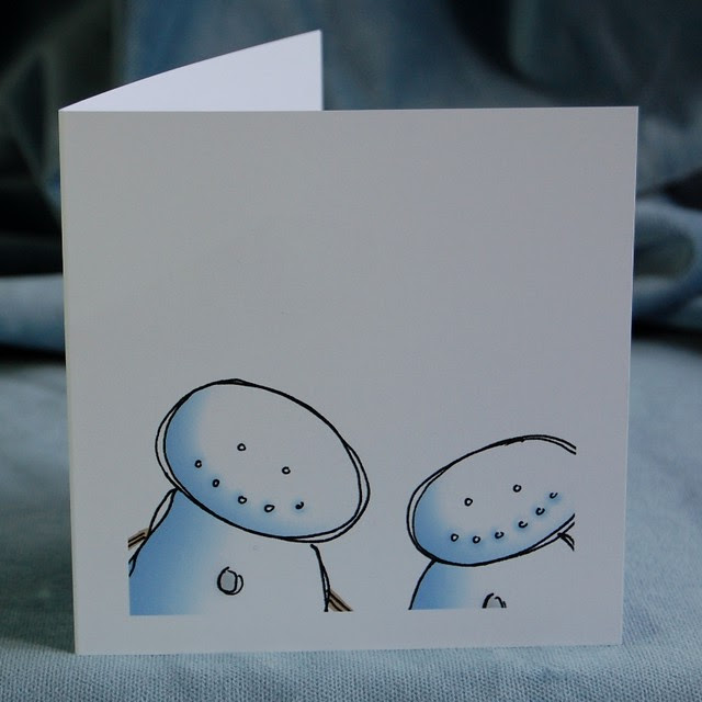 snow hug - front of card