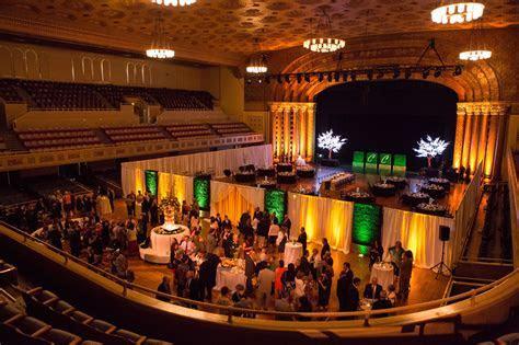 View of Memorial Auditorium main floor from balcony. The