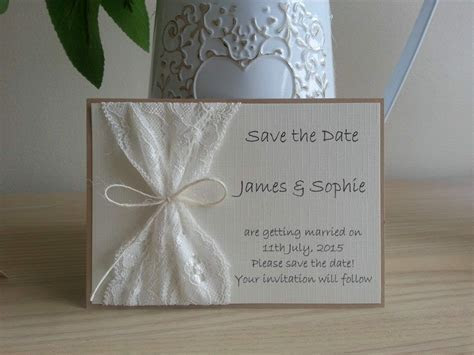 10 x Handmade Vintage Lace Save The Date cards Wedding   eBay
