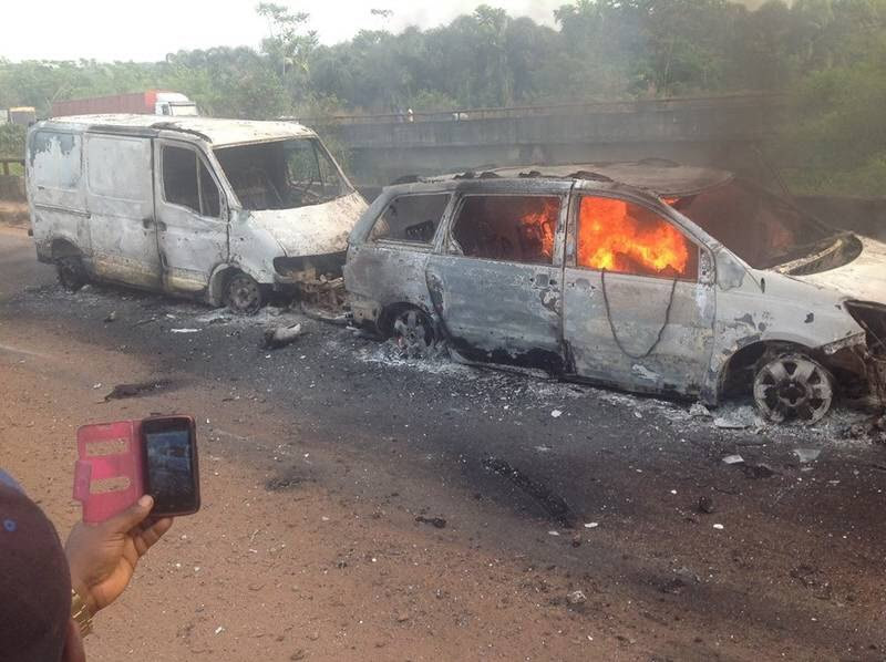 53 burnt to death in Benin-Onitsha auto crash