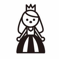 お姫様シルエット イラストの無料ダウンロードサイトシルエットac