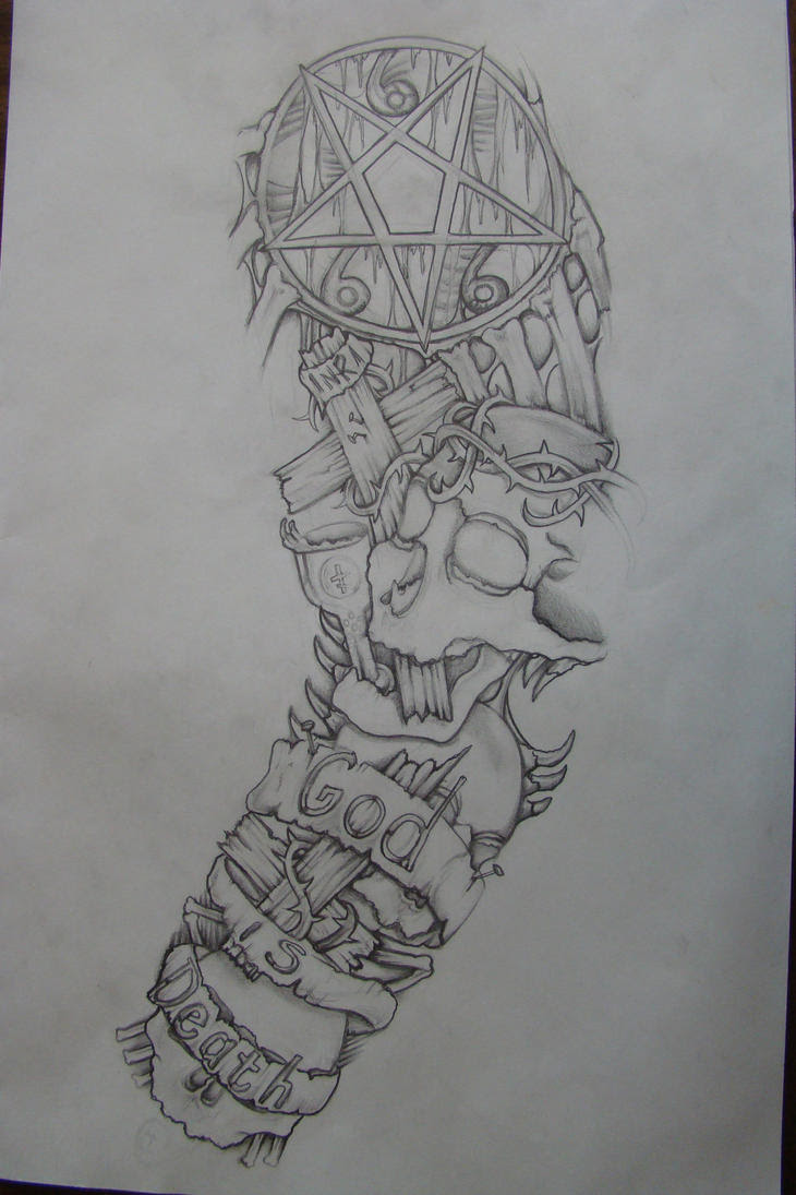 Biomechanical Sleeve Tattoo Drawing Traffic Club