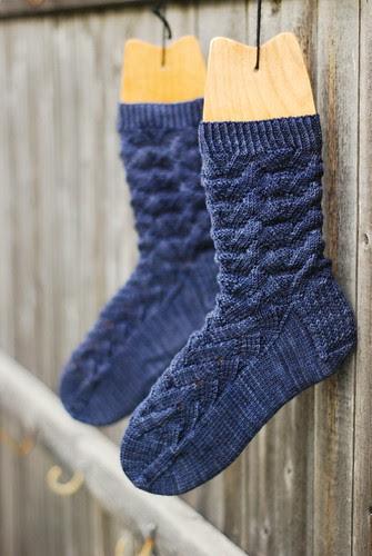 monkey socks (by aswim in knits)