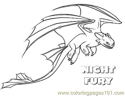 coloring pages nightfury cartoons  how to train your