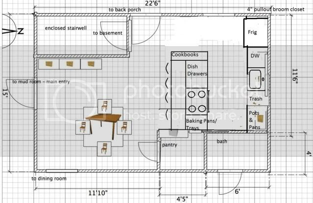 small G-shaped kitchen - layout advice please! - Kitchens Forum