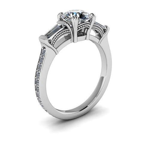 Diamond Baguette Vintage Style Forever One Moissanite