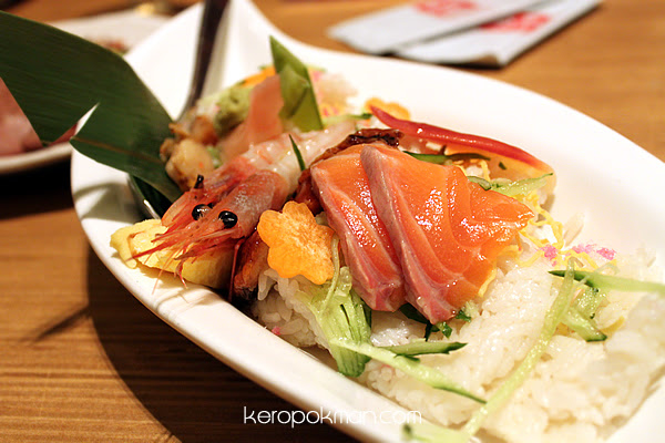 Mixed Sashimi Rice