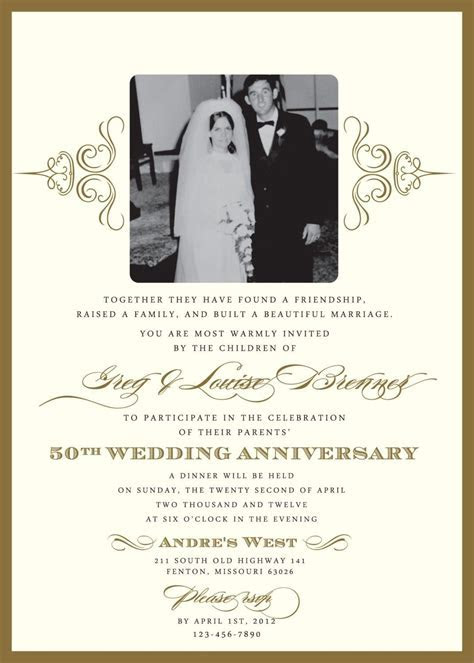 60th Wedding Anniversary Invitation Wording Samples