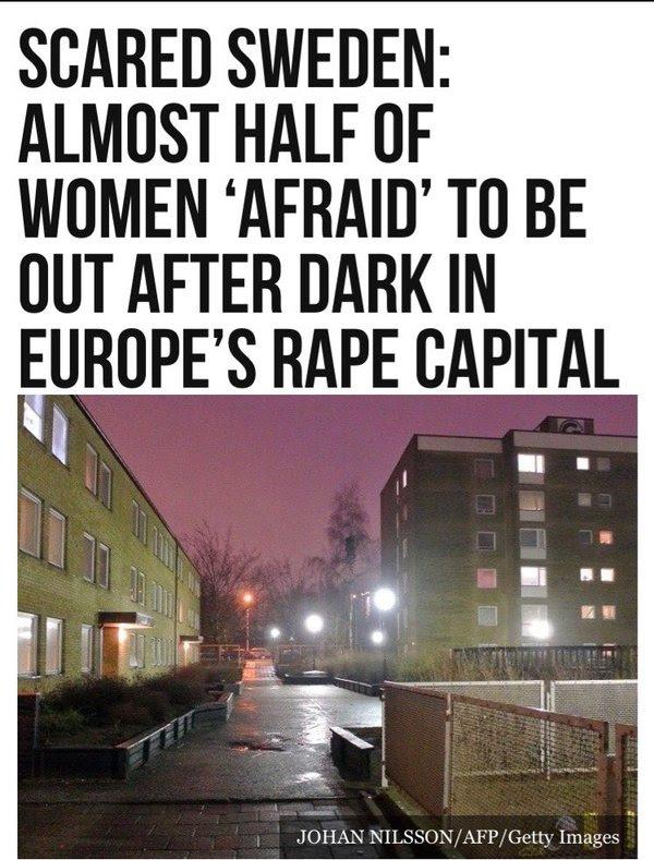 Αποτέλεσμα εικόνας για too many rapes from refugees in Sweden