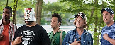 Chris Rock; Kevin James; Rob Schneider; David Spade and Adam Sandler in 'Grown-Ups' (Sony)