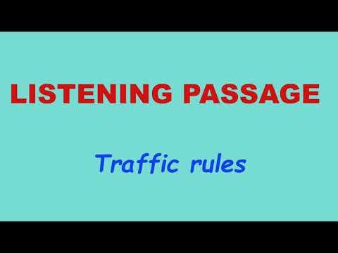 5th std-Term 2 -English-Unit 2-Listening passage-Traffic rules