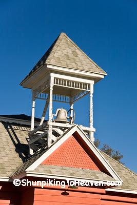 Belltower of Millard Prairie School, Juneau County, Wisconsin