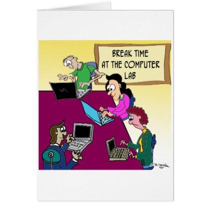 Computer Cartoon 8987 Card