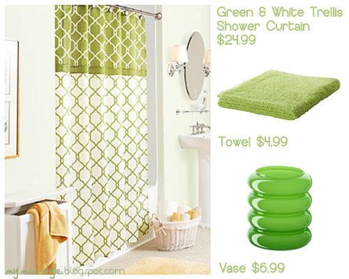 green bathroom small collage