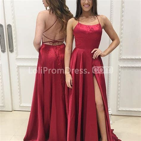 49%OFF Red Long Prom Dresses 2019 A line Sleeveless Open