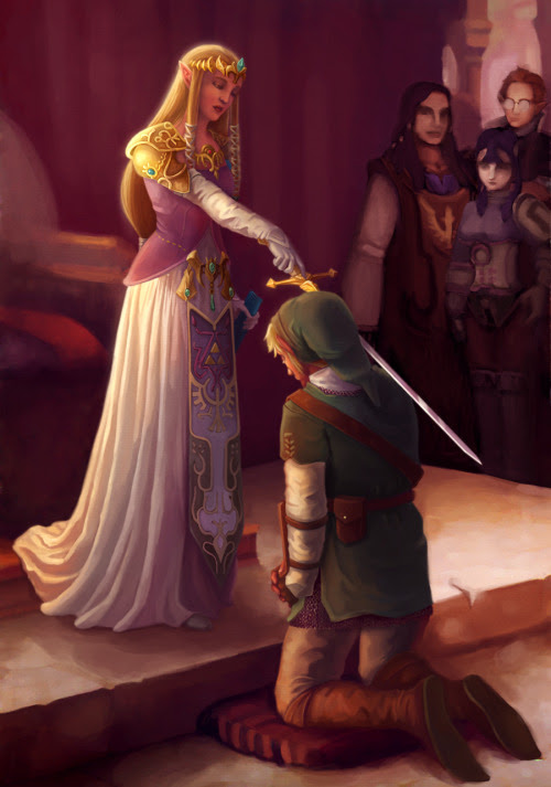 The Knighting of Link by Rebekah Holder