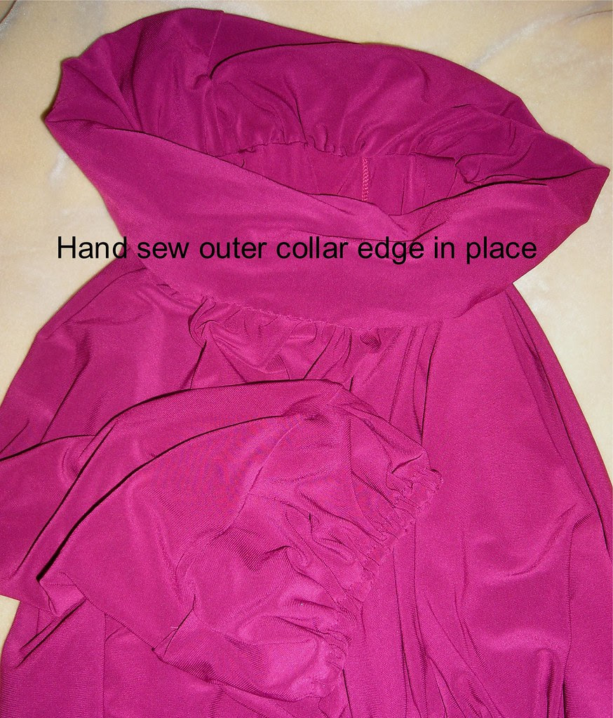 Hand Sew Outer Neck Edge
