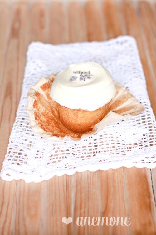 Cupcakes con miele e lavanda