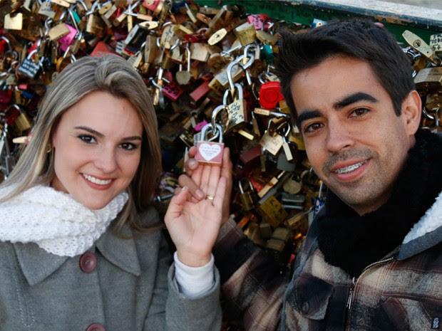 Patrick e Thalita Ribeiro, que também começou criança na TV (Foto: Acervo Pessoal)