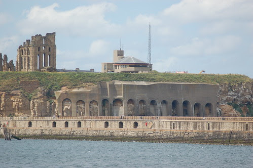 Tynemouth Priory and battlement Jul 10