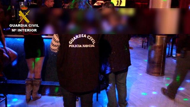 La Guardia Civil libera a dos menores de edad que se encontraban en un club de alterne de Mocejón (Toledo)